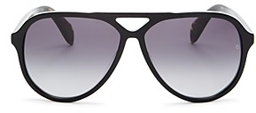 Rag & Bone Men's Brow Bar Aviator Sunglasses, 54mm