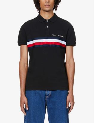 Tommy Hilfiger Striped ccotton-pique polo shirt