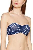 Triumph Women's Painted Leaves MWDP 02 Bikini Top, Multicoloured (BLUE - LIGHT COMBINATION)