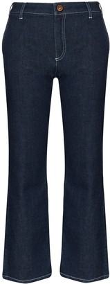 See by Chloe Cropped Flare Jeans