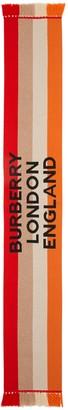 Burberry 4 Color Stripe Cashmere Scarf