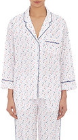 Sleepy Jones Women's Dot-Embroidered Marina Pajama Top-WHITE