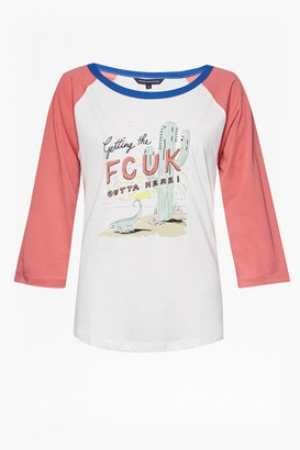 French Connection Getaway Long Sleeve Round Neck T Shirt