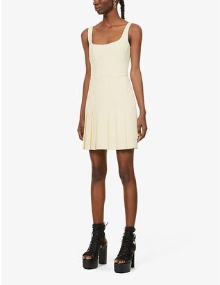 Dion Lee Pleated stretch-crepe mini dress