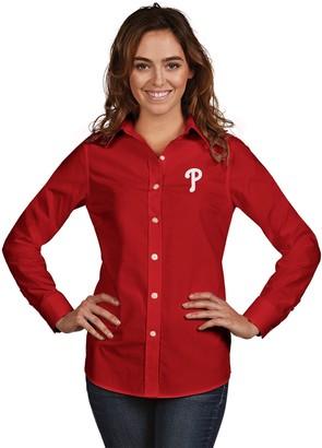 Antigua Women's Philadelphia Phillies Dynasty Button-Down Shirt