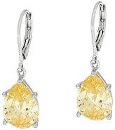 Elizabeth Taylor The Simulated Canary Diamond Drop Earrings