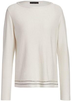 Fabiana Filippi Cashmere & Lurex Brilliant-Trim Knit Sweater
