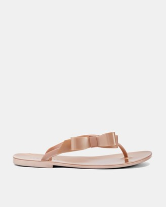 Ted Baker GLAMARB Bow detail jelly flip flops