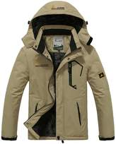 Sawadikaa Men's Outdoor Waterproof Mountain Fleece Plus Size Ski Jacket Sportwear