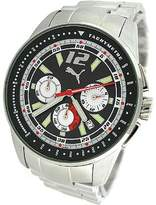 Puma Men's MOTOR PU102161001 Silver Stainless-Steel Quartz Watch with Dial