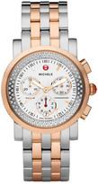 Michele Women's Sport Sail Two-Tone Diamond Bracelet Watch - 0.46 ctw
