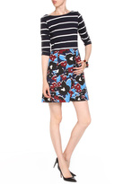 Taylor 5961M Quarter Sleeve Stripe Dress