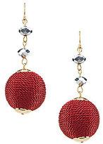 Natasha Accessories Thread-Wrapped Ball Drop Earrings