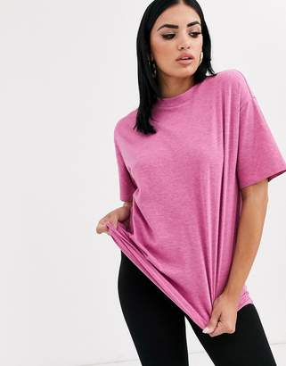 Asos Design DESIGN oversized t-shirt in overdyed pink marl