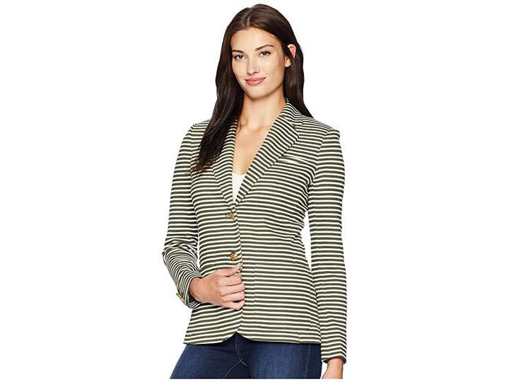 Lauren Ralph Lauren Striped Pique Blazer
