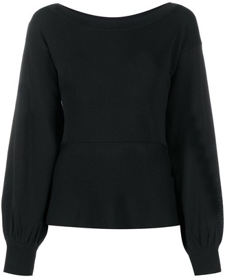 Pinko Billowing-Sleeve Knitted Top