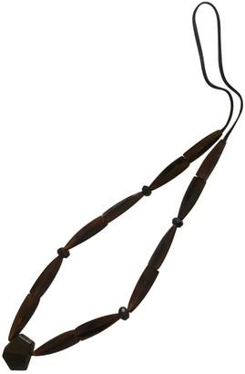 Monies Jewellery Brown Wood Necklaces