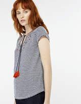 Heidy Stripe Short Sleeve Top