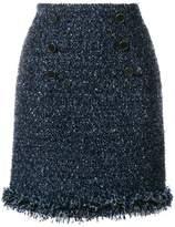 Karl Lagerfeld fringed bouclé skirt