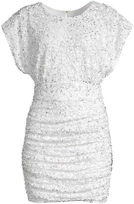 Jay Godfrey Drape Bodice Shirred Mini Dress