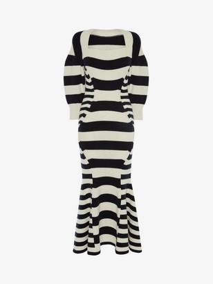 Alexander McQueen Patchwork Stipe Knitted Dress
