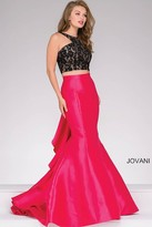 Jovani Black And Fuchsia Two-Piece Mermaid Prom Dress 42491