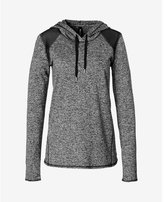 Express marled EXP core mesh inset hoodie