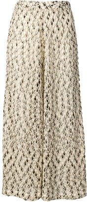 Missoni Mare Embroidered Pattern Loose Trousers
