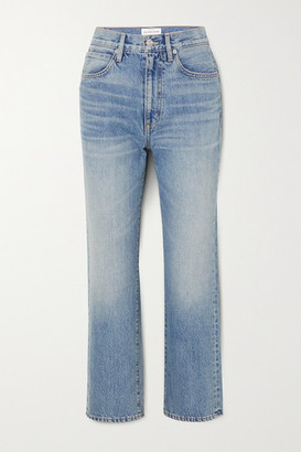 SLVRLAKE London Cropped High-rise Straight-leg Jeans - Light denim