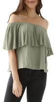 LAmade Women's Rosane Cotton Linen Blend Off The Shoulder Top