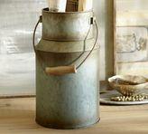 Pottery Barn Blue Metal Milk Tin