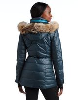 Marc New York ANDREW MARC Hooded Puffer Coat With Fur Trim