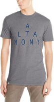 Altamont Men's Lockstep T-Shirt, Grey/Blue