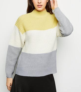 New Look Block Stripe High Neck Jumper