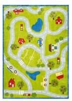 nuLoom Kinderloom Alton Kids Road Print Rug
