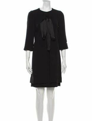 Dolce & Gabbana Crew Neck Mini Dress Black