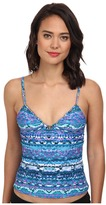 Badgley Mischka Adia Triangle Tankini w/ Beads
