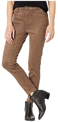 KUT from the Kloth Donna High-Rise in Faux Suede (Brown) Women's Casual Pants