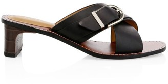 Joie Landri Buckle Leather Mules