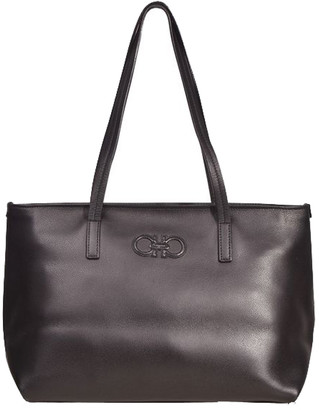 Salvatore Ferragamo Black Leather Shoulder Bag