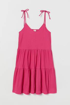 H&M V-neck Jersey Dress - Pink