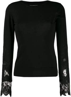 Ermanno Scervino lace-detail long sleeve top