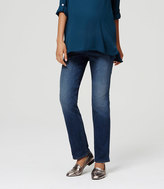 LOFT Maternity Straight Leg Jeans in Vintage Mid Indigo Wash