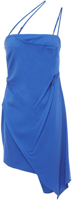 Mason by Michelle Mason Asymmetric Stretch-crepe Mini Dress