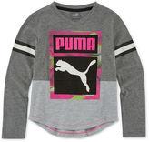 Puma Long-Sleeve V-Neck Tee - Preschool Girls 4-6x