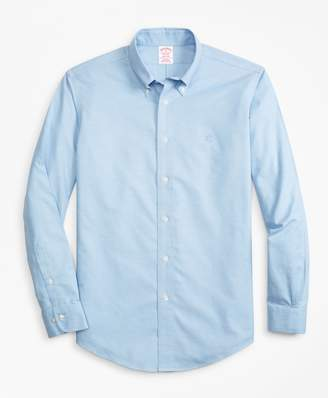 Brooks Brothers Non-Iron Madison Fit Heathered Oxford Sport Shirt