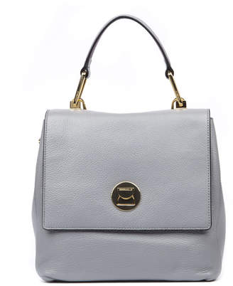 Coccinelle Liya Medium Light Grey Leather Bag