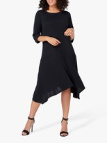 Live Unlimited Curve Black Crepe Midi Dress, Black