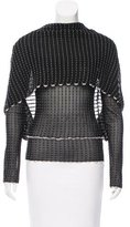 Roland Mouret Striped Mesh Top w/ Tags