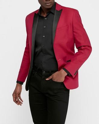 Express Extra Slim Pink Cotton Tuxedo Jacket